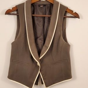 Lux women's size small vest brown and beige